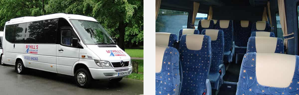 Images of the Iveco 16 seat minibus