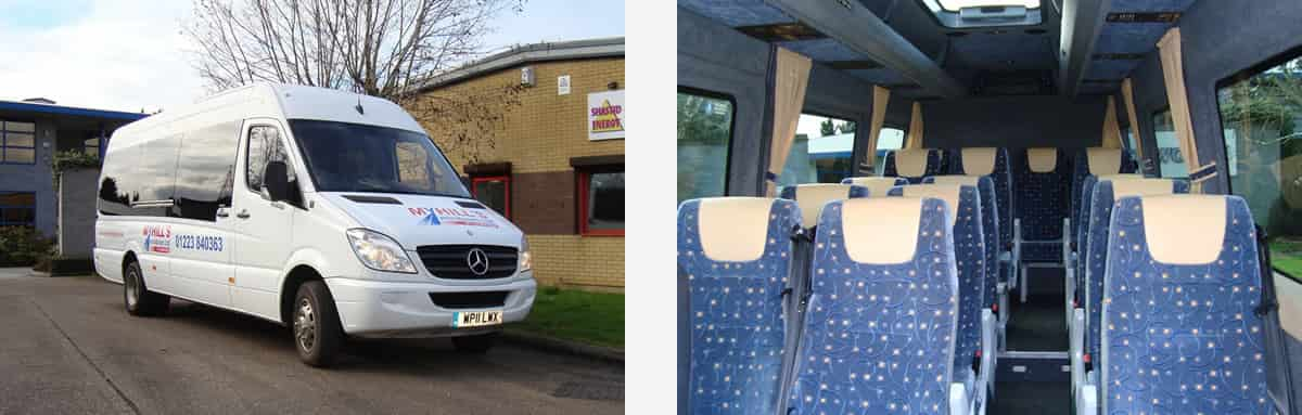 Images of the Stanford 16 seat minibus